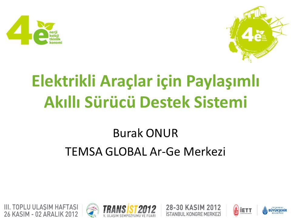 Elektrikli Araçlar için Paylaşımlı Akıllı Sürücü Destek Sistemi Burak ONUR TEMSA GLOBAL Ar-Ge Merkezi