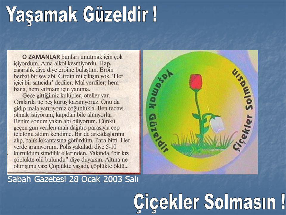 Sabah Gazetesi 28 Ocak 2003 Salı
