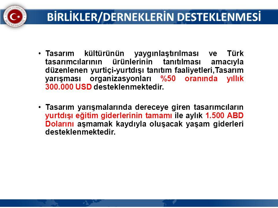 •Tasarım kültürünün yaygınlaştırılması ve Türk tasarımcılarının ürünlerinin tanıtılması amacıyla düzenlenen yurtiçi-yurtdışı tanıtım faaliyetleri,Tasa