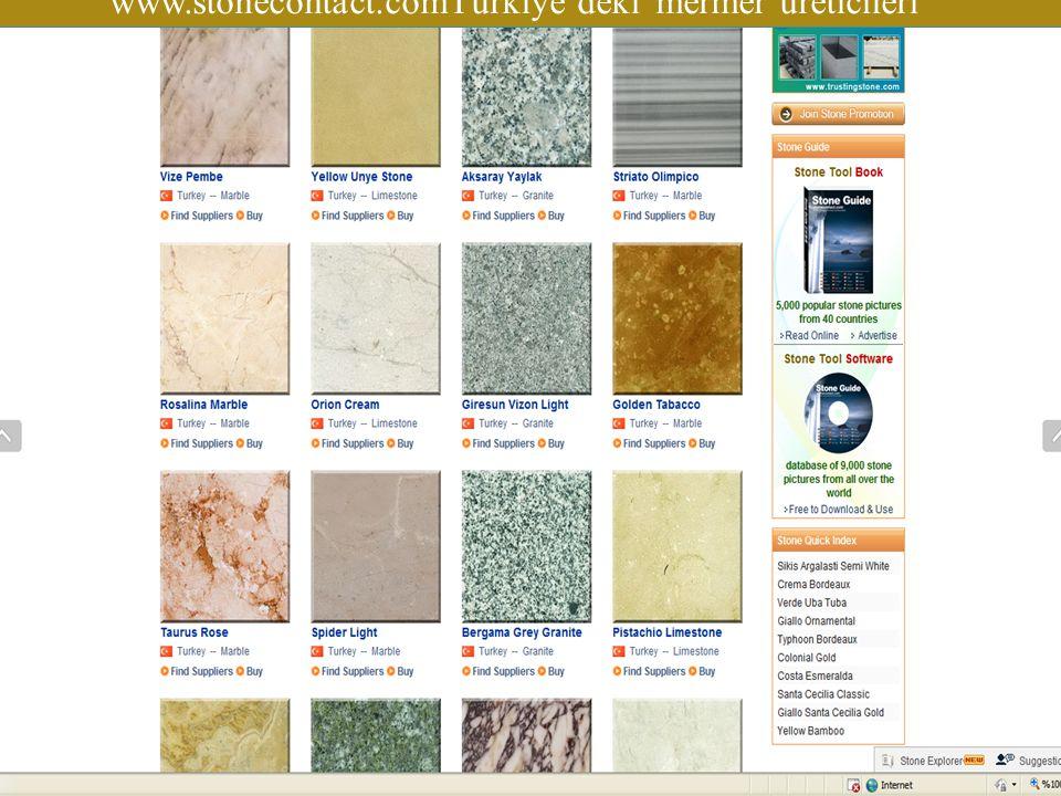 www.stonecontact.comTürkiye'deki mermer üreticileri