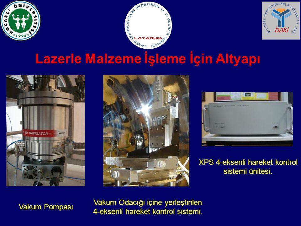 Lazerle Malzeme İşleme İçin Altyapı XPS 4-eksenli hareket kontrol sistemi ünitesi. Vakum Odacığı içine yerleştirilen 4-eksenli hareket kontrol sistemi