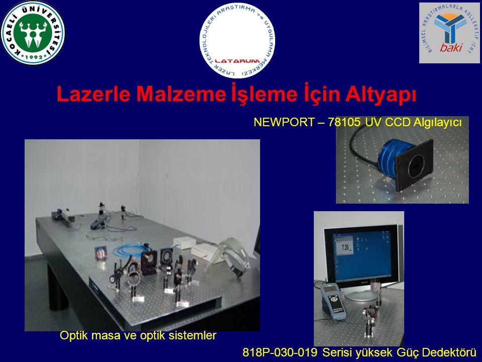 Lazerle Malzeme İşleme İçin Altyapı Optik masa ve optik sistemler 818P-030-019 Serisi yüksek Güç Dedektörü NEWPORT – 78105 UV CCD Algılayıcı