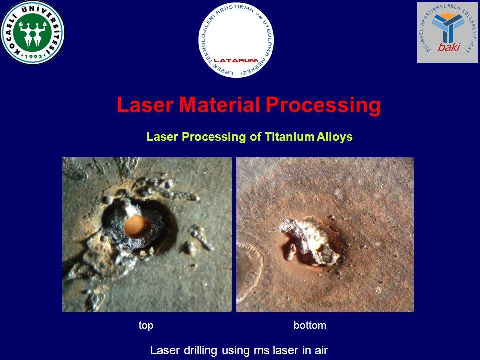 Laser Processing of Titanium Alloys Laser Material Processing Laser drilling using ms laser in air topbottom
