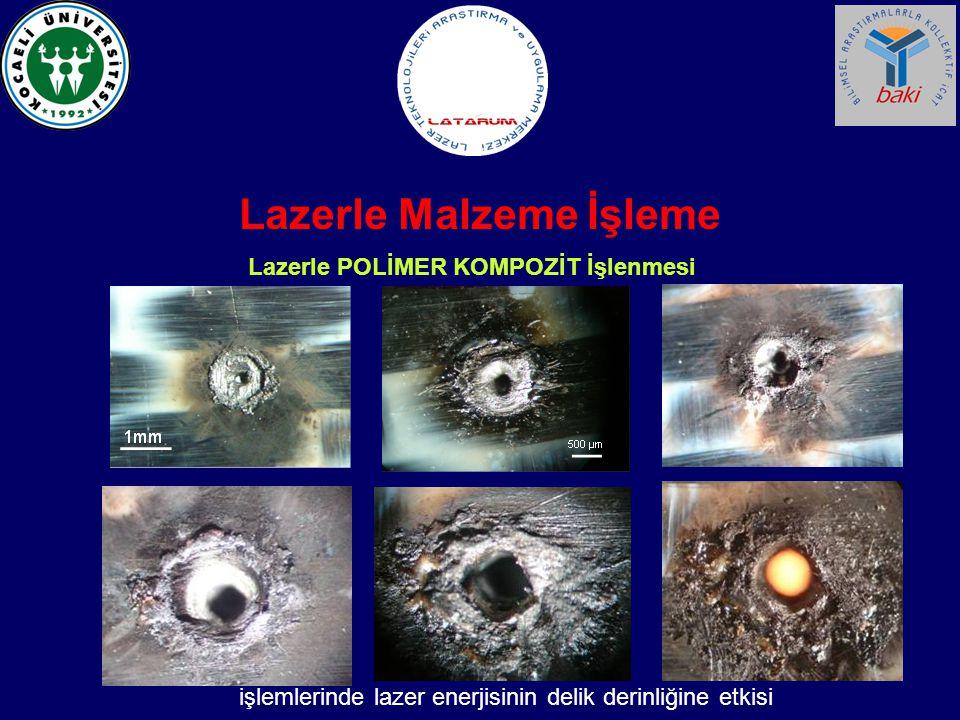 Lazerle Malzeme İşleme Lazerle POLİMER KOMPOZİT İşlenmesi işlemlerinde lazer enerjisinin delik derinliğine etkisi