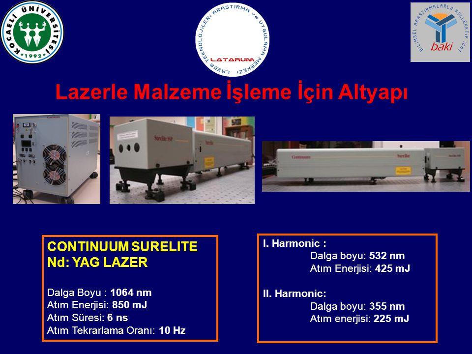 Lazerle Malzeme İşleme İçin Altyapı CNC Tezgahın Vakum Odacığı Sistemi (LATARUM)