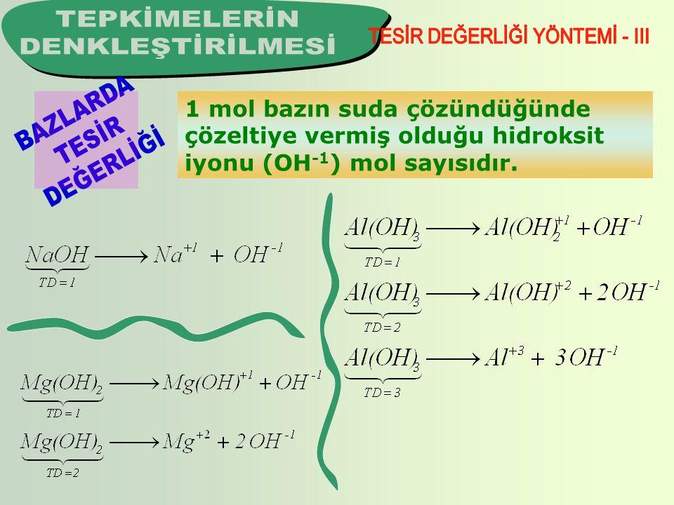 1 mol tuzun formülünde bulunan katyonların yükleri toplamıdır.