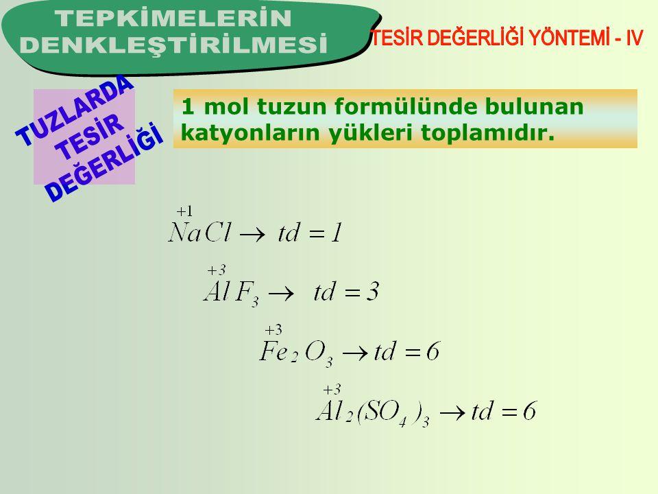 1 mol maddenin mol-atom başına aldığı ya da verdiği mol-elektron sayısıdır.
