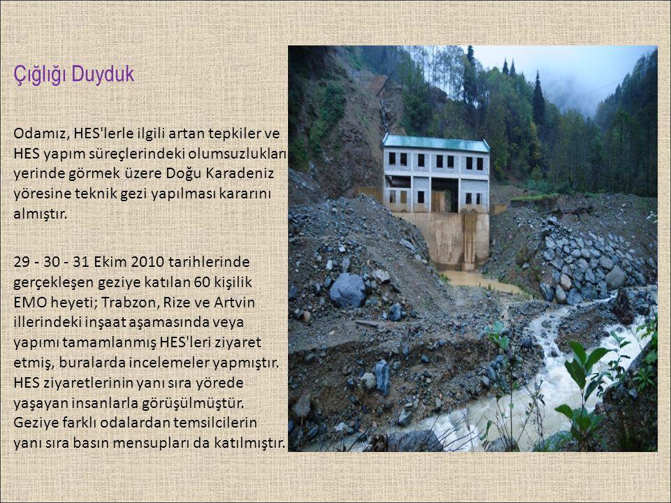 Su yapıları için, hidrolojik ölçümler uzun yıllara dayalı olarak EİE,DSİ tarafından yapılmaktadır.