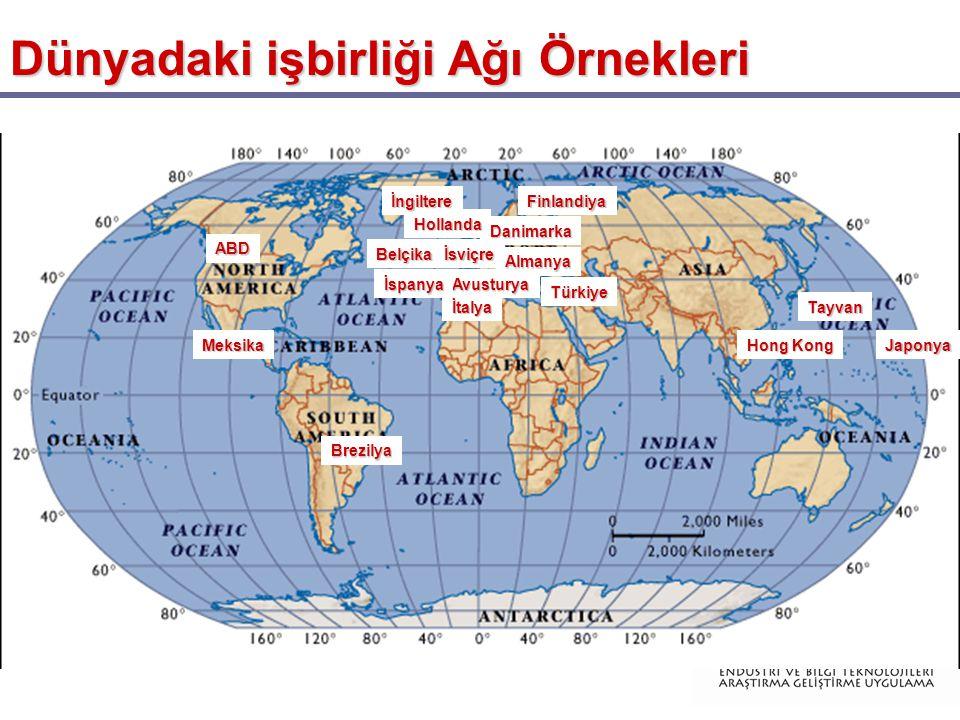 Dünyadaki işbirliği Ağı Örnekleri ABD İsviçre İtalya Avusturya Almanya Finlandiya Danimarka Hollanda Belçika Tayvan Japonya İngiltere İspanya Hong Kong Brezilya Meksika Türkiye