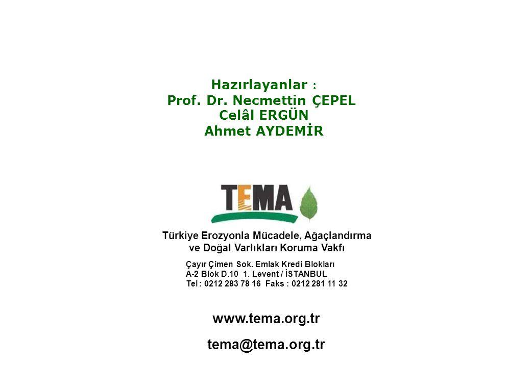 www.tema.org.tr Türkiye Erozyonla Mücadele, Ağaçlandırma ve Doğal Varlıkları Koruma Vakfı Çayır Çimen Sok. Emlak Kredi Blokları A-2 Blok D.10 1. Leven