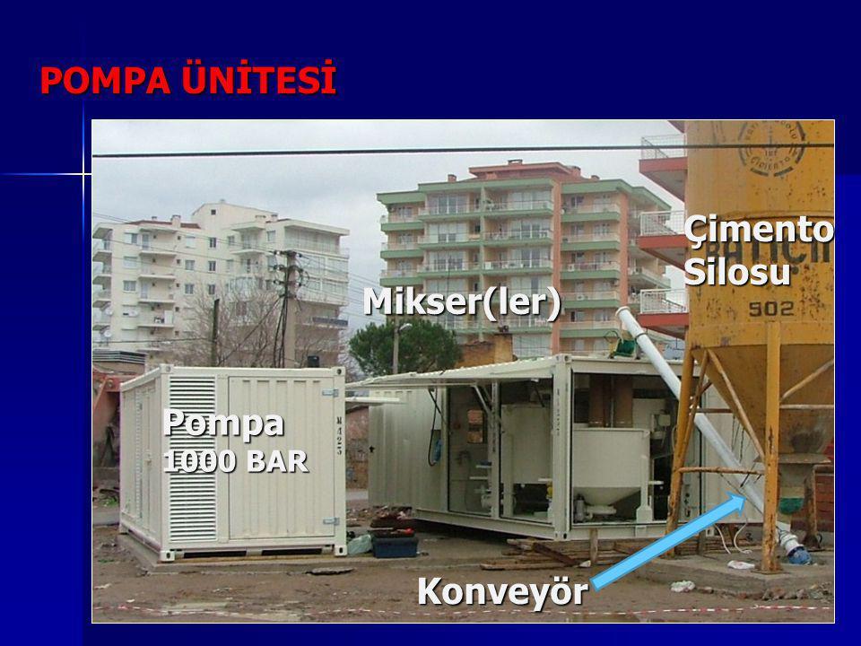 POMPA ÜNİTESİ Pompa 1000 BAR Mikser(ler) Konveyör ÇimentoSilosu