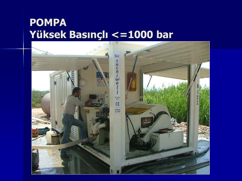POMPA Yüksek Basınçlı <=1000 bar