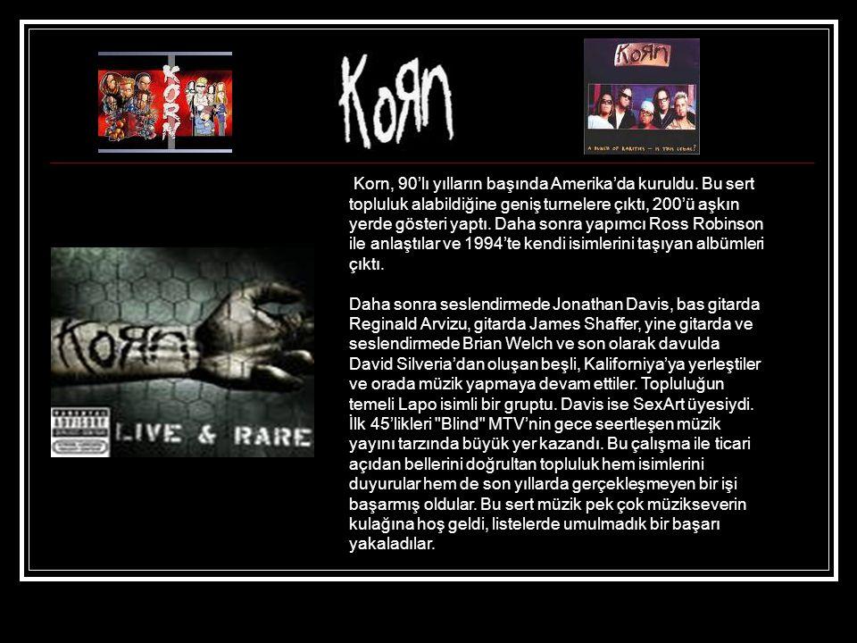 Korn, 90'lı yılların başında Amerika'da kuruldu.