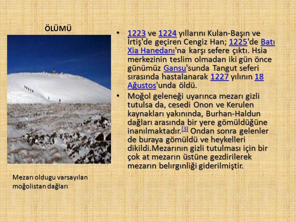 GöksarayGöksaray şehrini kuşatmasının ardından şehir teslim oldu. Cengiz Han'ın generalleri de Siriderya'daki Sığnak, Cend, Barçınlığkent'i ele geçird