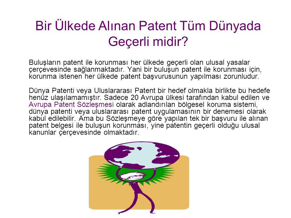 Patent İşbirliği Antlaşması Patent İşbirliği Anlaşması aracılığıyla Türk Patent Enstitüsüne yapılan uluslararası bir başvuru ile bu Anlaşmaya üye ülke
