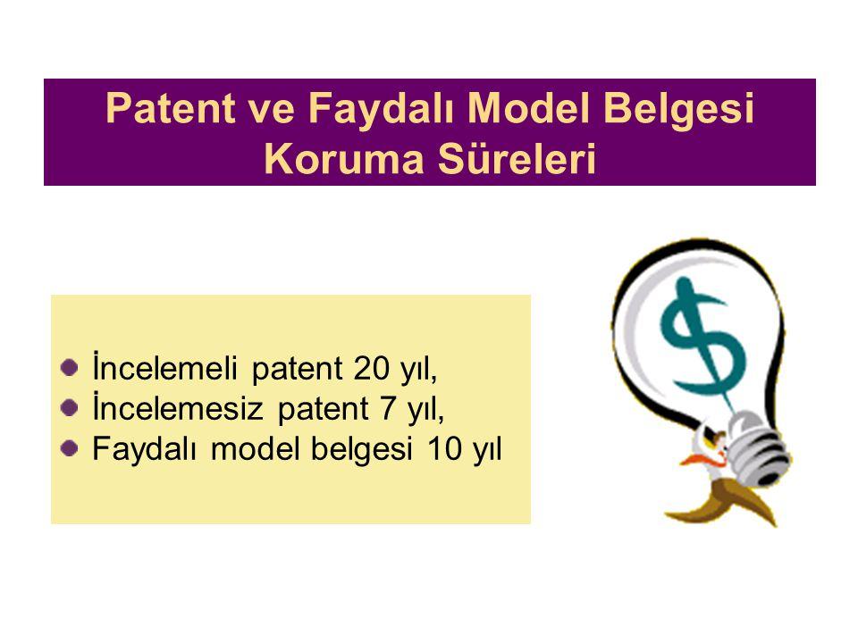 Ücretler Bir patent başvurusu veya patentin korunması için gerekli olan yıllık ücretler, Enstitünün bildirimine gerek olmaksızın patentin koruma süres