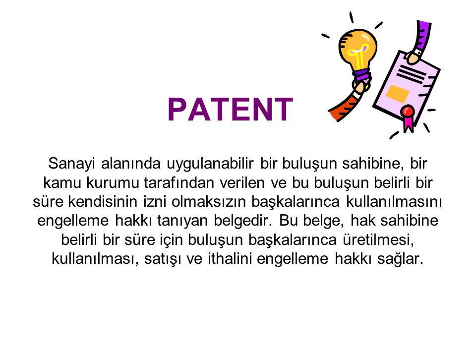 Patent Başvurusu ve Patent Üzerinde Tasarruflar Sözleşmeye dayalı lisans Patent başvurusu veya patentin kullanma hakkı,milli sınırların bütünü içinde veya bir kısmında geçerli olacak şekilde, lisans sözleşmesine konu olabilir.