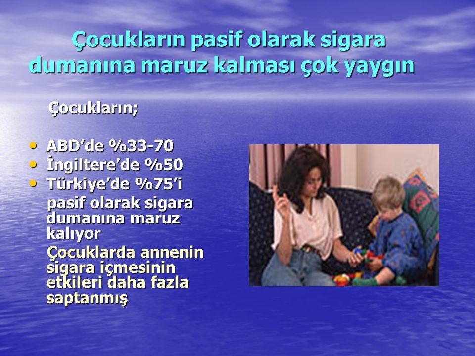 Çocukların pasif olarak sigara dumanına maruz kalması çok yaygın Çocukların pasif olarak sigara dumanına maruz kalması çok yaygın Çocukların; Çocuklar