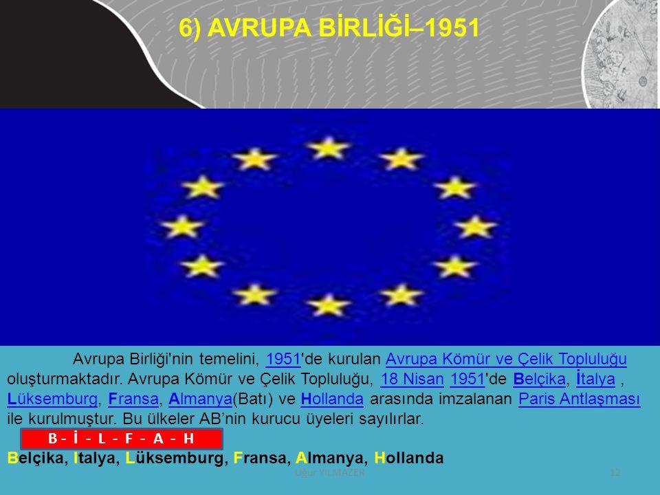 Avrupa Birliği'nin temelini, 1951'de kurulan Avrupa Kömür ve Çelik Topluluğu oluşturmaktadır. Avrupa Kömür ve Çelik Topluluğu, 18 Nisan 1951'de Belçik
