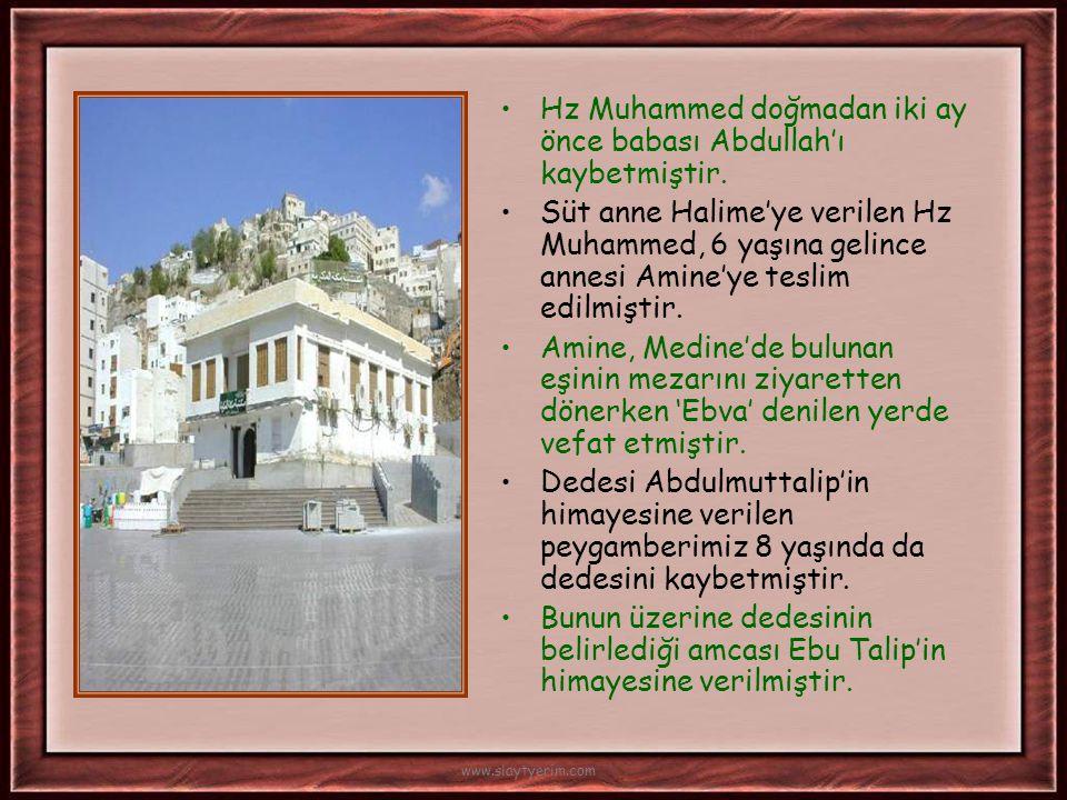 Hz. Muhammed; 571 yılında fil yılında fil olayından 50-55 gün sonra Rebiul-evvel ayının 12. günü Pazartesi gecesi doğmuştur. www.slaytyerim.com