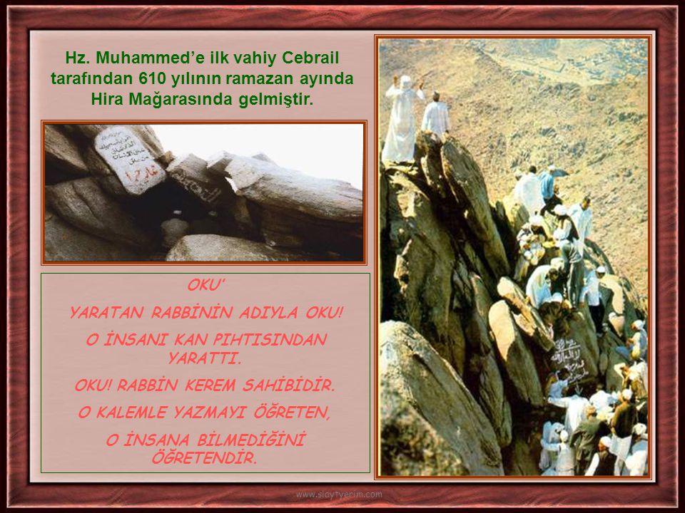 •Hz Muhammed gençlik yıllarında 'Hilfu-l fudul' ( Erdemliler yemini) isimli gruba dahil olmuştur. •25 yaşında Hz. Hatice ile evlenmiştir. •Çocuklarını