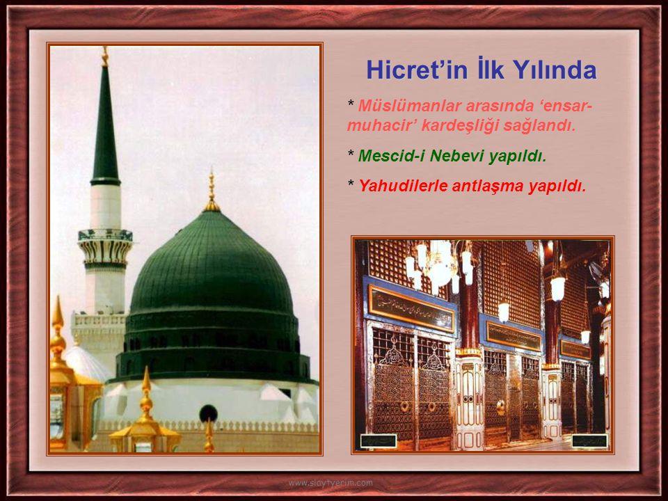 622 yılında Mekkeli Müslümanlar Medine'ye göç ettiler. Mekke'de bütün mal ve mülklerini bırakarak… Allah Dedi ki : Ben, erkek olsun kadın olsun -ki he