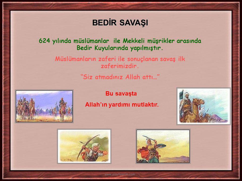 Hicret'in İlk Yılında * Müslümanlar arasında 'ensar- muhacir' kardeşliği sağlandı. * Mescid-i Nebevi yapıldı. * Yahudilerle antlaşma yapıldı. www.slay