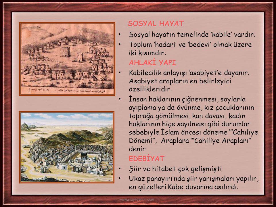 Hicret'in İlk Yılında * Müslümanlar arasında 'ensar- muhacir' kardeşliği sağlandı.