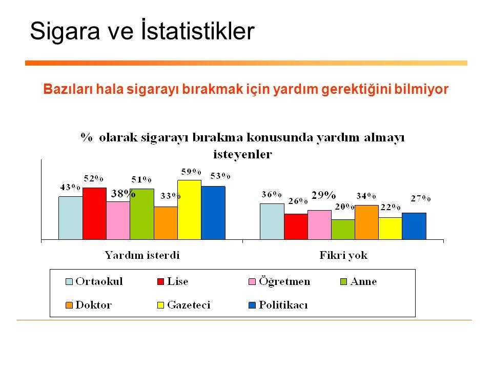 Sigara ve İstatistikler Türkiye'de sigara içenler ne diyor, ne yapıyor .