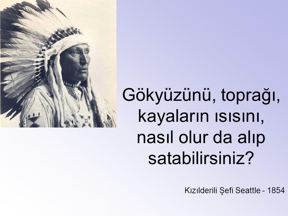 Gökyüzünü, toprağı, kayaların ısısını, nasıl olur da alıp satabilirsiniz? Kızılderili Şefi Seattle - 1854