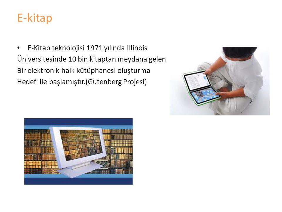 E-kitap okuyuculara herhangi bir kitabın içeriğine elektronik formda erişim olanağı sağlayan kitaptır.Teknik olarak diz üstü, masa üstü, Cep bilgisayarları, ve diğer e-kitap okuyucu cihazları ile okunabilen basılı kitapların tıpkı kopyalarından oluşan elektronik dosyalar olarak tanımlanabilen e-kitaplar basılı kitapların bütün özelliklerini barındırmakla beraber ek olarak okuyucuya yeni kolaylıklar da sağlayan yeni kitap biçimidir.