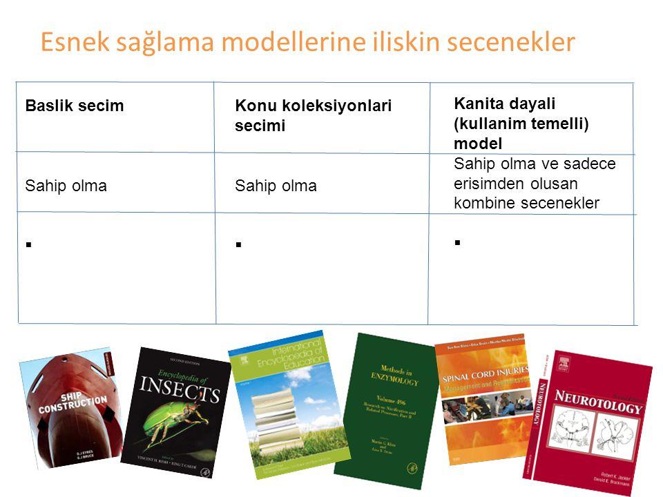 Gazi Üniversitesi Elsevier E-Kitaplar kullanımları ve Akademik çıktılara olası yansımalar 40