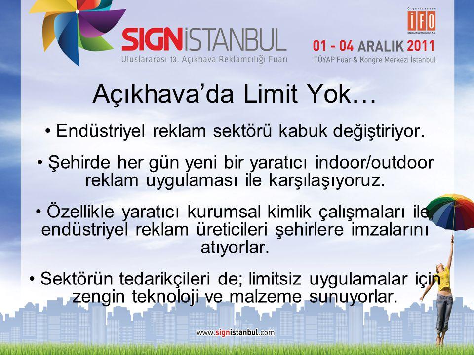 Açıkhava'da Limit Yok… • Endüstriyel reklam sektörü kabuk değiştiriyor. • Şehirde her gün yeni bir yaratıcı indoor/outdoor reklam uygulaması ile karşı