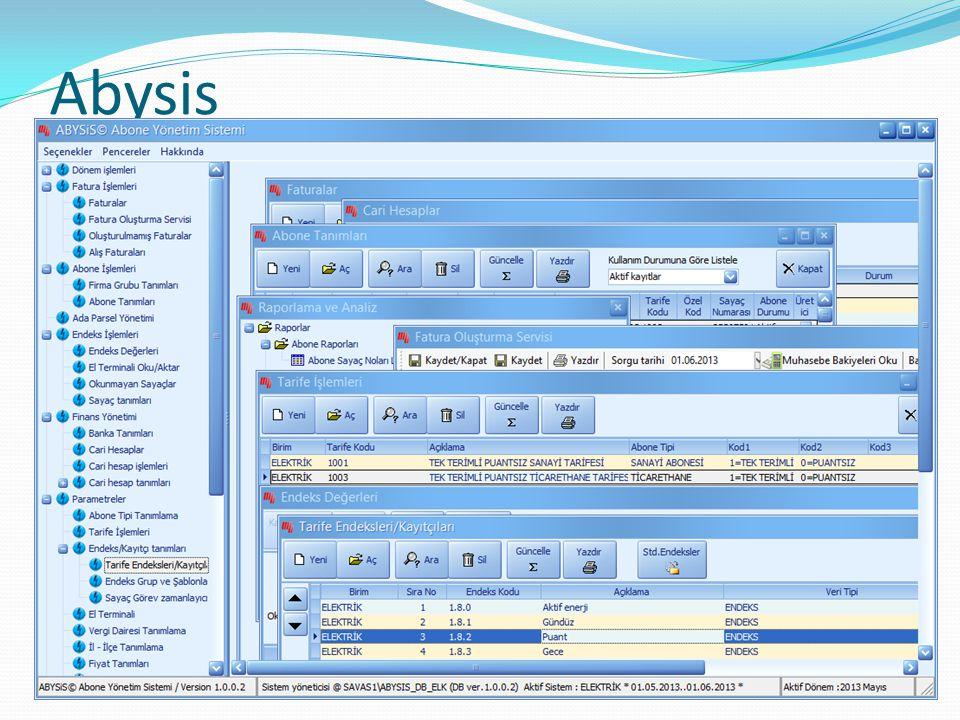 Modülleri  Temel olarak abone çevresine konumlanmış  Abone  OSOS  Faturalama  Tahsilat – Banka  Raporlama ve analiz Temellerini esas alır ve sonraki sayfalardaki tanımlanan modülleri içerir.