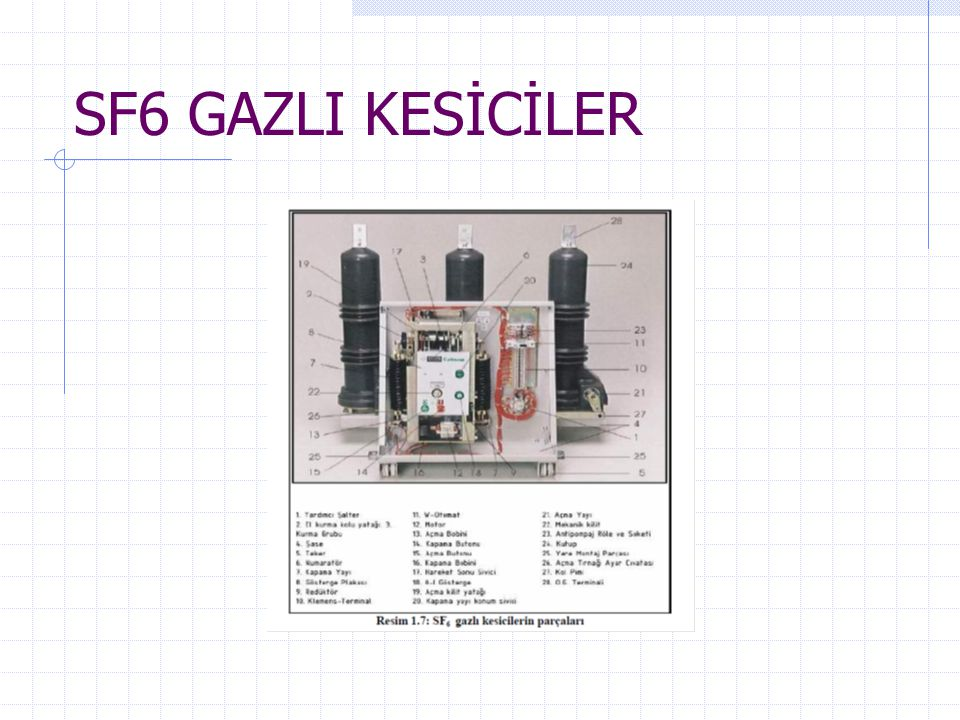 SF6 GAZLI KESİCİLER