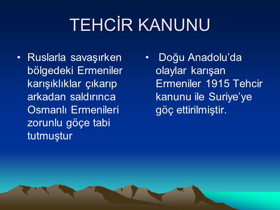 KAFKAS CEPHESİ •Rusların saldırısı ile başlamıştır •Enver Paşa Rusları doğudan uzaklaştırmak, Bakû petrollerine ulaşmak ve Orta Asya Türkleri ile birl