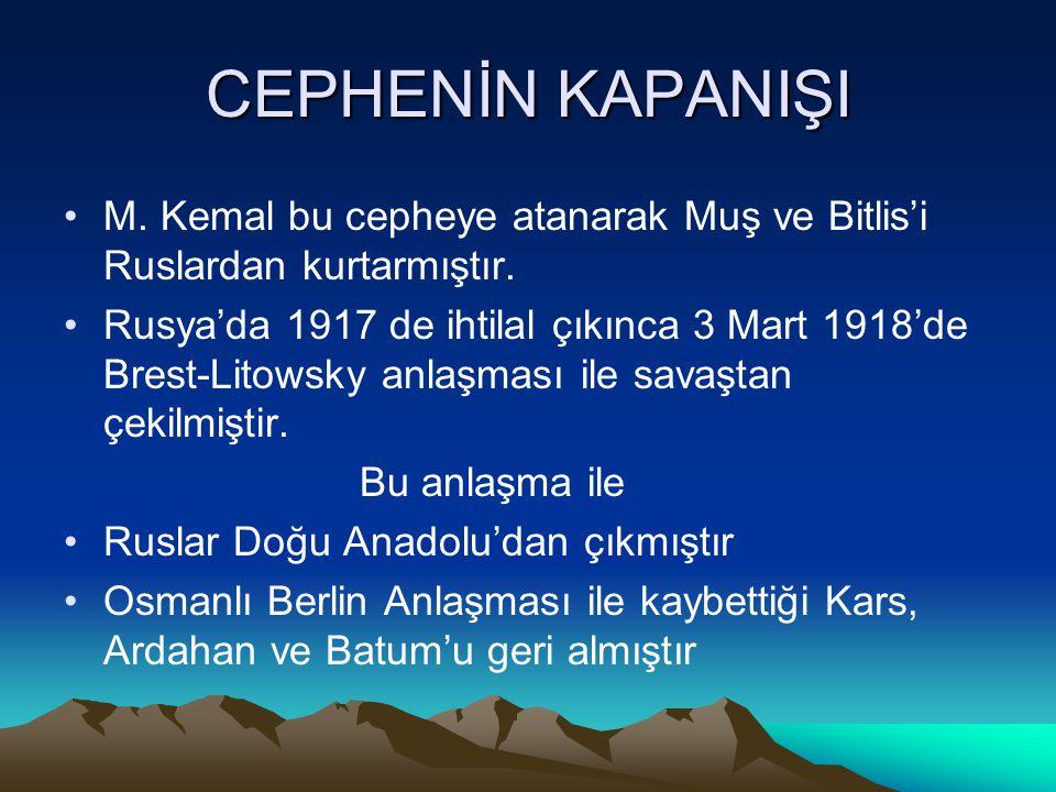 TEHCİR KANUNU •Ruslarla savaşırken bölgedeki Ermeniler karışıklıklar çıkarıp arkadan saldırınca Osmanlı Ermenileri zorunlu göçe tabi tutmuştur • • Doğ