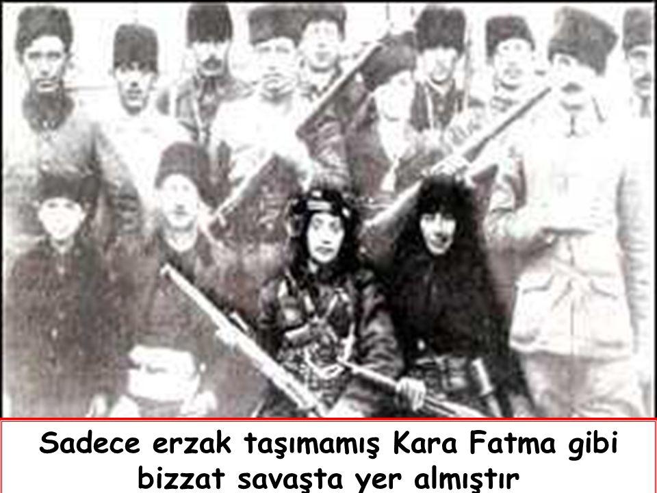 Cepheye erzak ve cephane götüren kahraman Türk Kadınları
