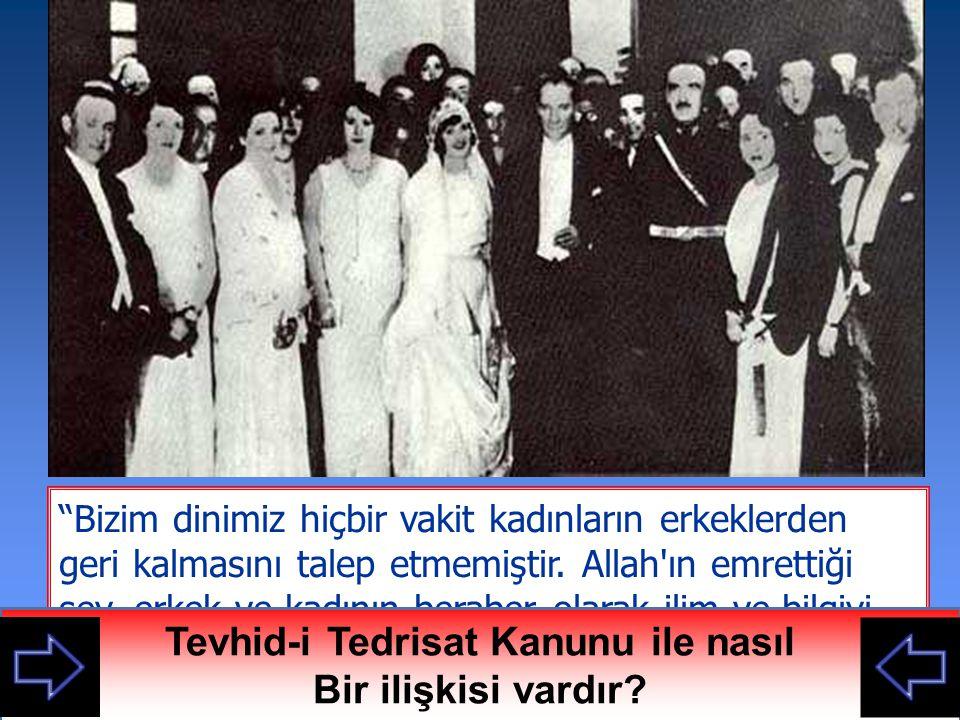 3 Mart 1924 Tevhid-i Tedrisat kanununa göre tüm okullar birleştirilmiş ve karma eğitim başlamıştır.