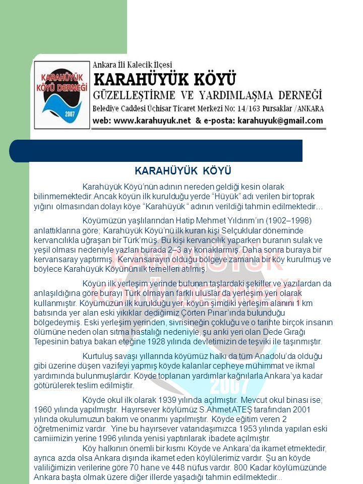 Karahüyük Köyü'nün Sorunları… Aşağıda sıraladığımız sorunlarımızın Karahüyük Köyü halkı-devlet işbirliği ile çözüme kavuşacağına olan inancımızı dile