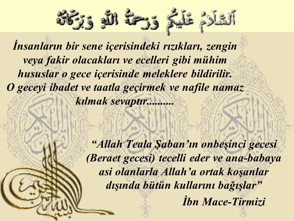 Peygamber Efendimiz bu geceyi ibadetle geçirmiş ve Allah'a şöyle dua etmiştir: Azabından affına, gazabından rızana sığınır, senden yine sana iltica ederim.