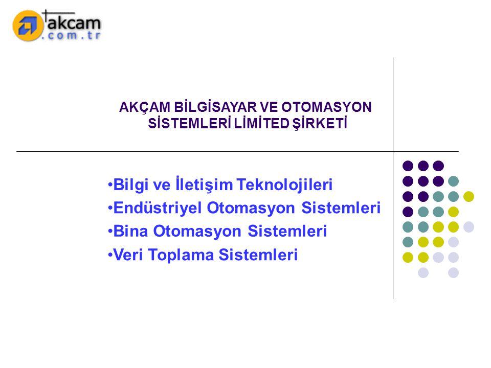 •Bina Otomasyon Sistemleri •Endüstriyel Otomasyon Sistemleri •Veri Toplama Sistemleri •Bilgi ve İletişim Teknolojileri AKÇAM BİLGİSAYAR VE OTOMASYON S