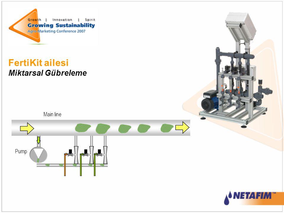 FertiKit ailesi Miktarsal Gübreleme Pump Main line