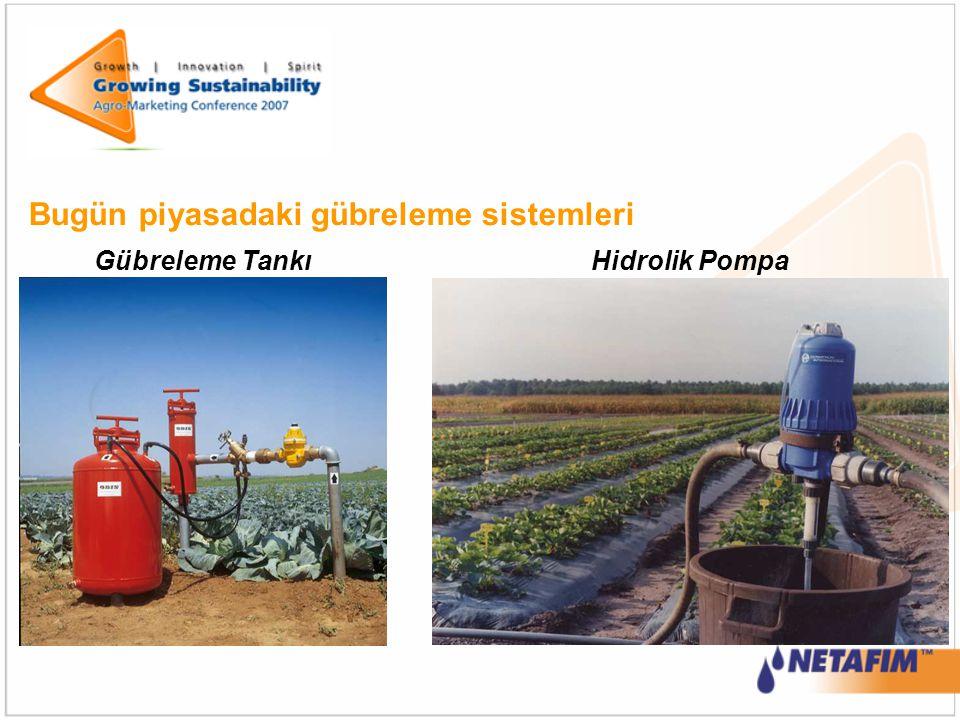 Bugün piyasadaki gübreleme sistemleri Gübreleme TankıHidrolik Pompa