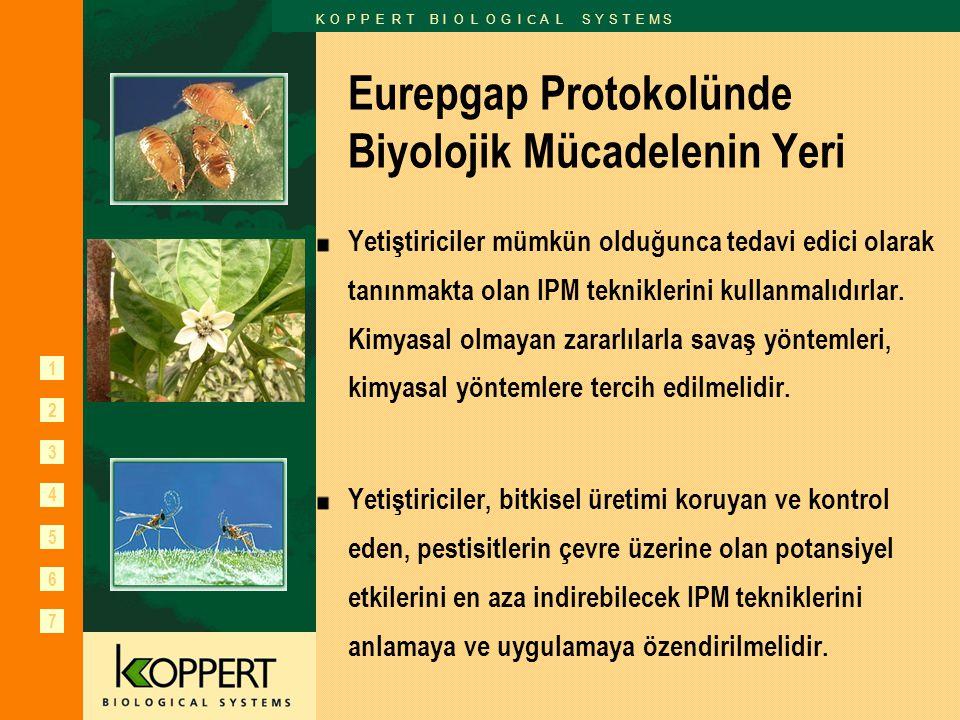 1 2 3 6 7 K O P P E R T B I O L O G I C A L S Y S T E M S 4 5 Eurepgap Protokolünde Biyolojik Mücadelenin Yeri Yetiştiriciler mümkün olduğunca tedavi