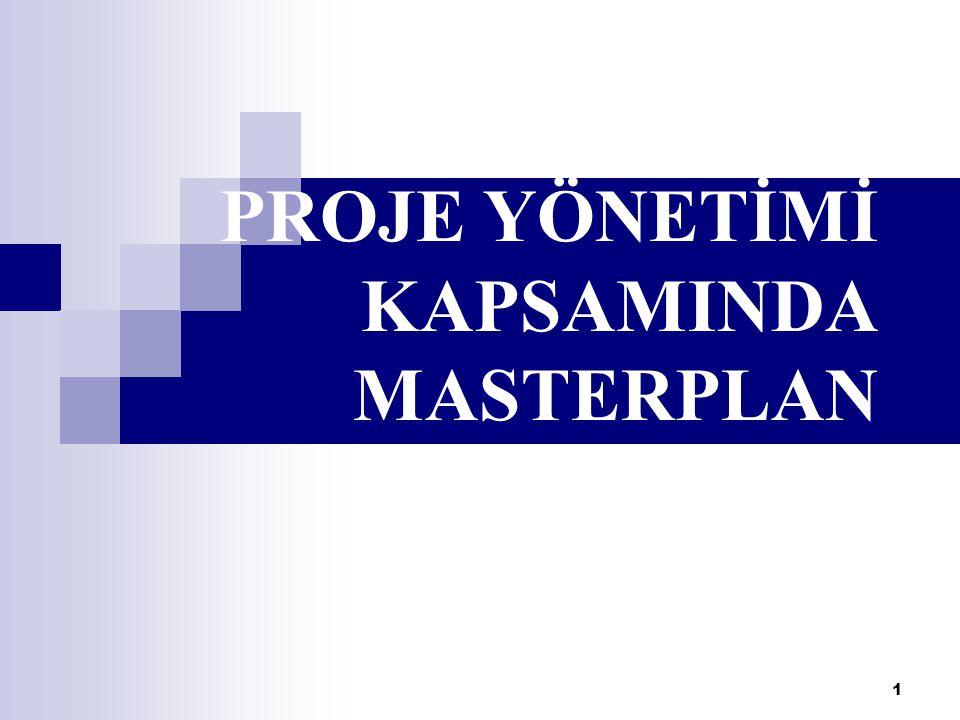 1 PROJE YÖNETİMİ KAPSAMINDA MASTERPLAN