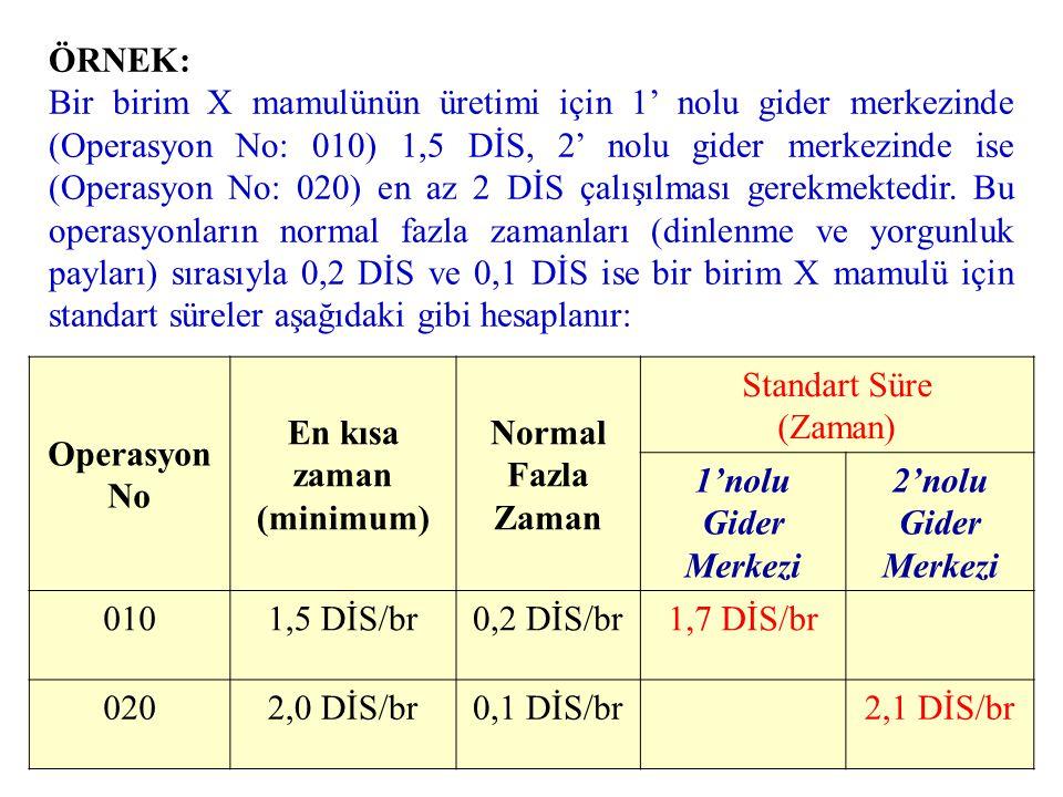 DİM Standartları: •DİM Süre Standardı: –Minimum Süre –Normal fazla süre (Fire) •DİM Ücret Standardı: –Anlaşılan Ücret (Toplu Sözleşme)
