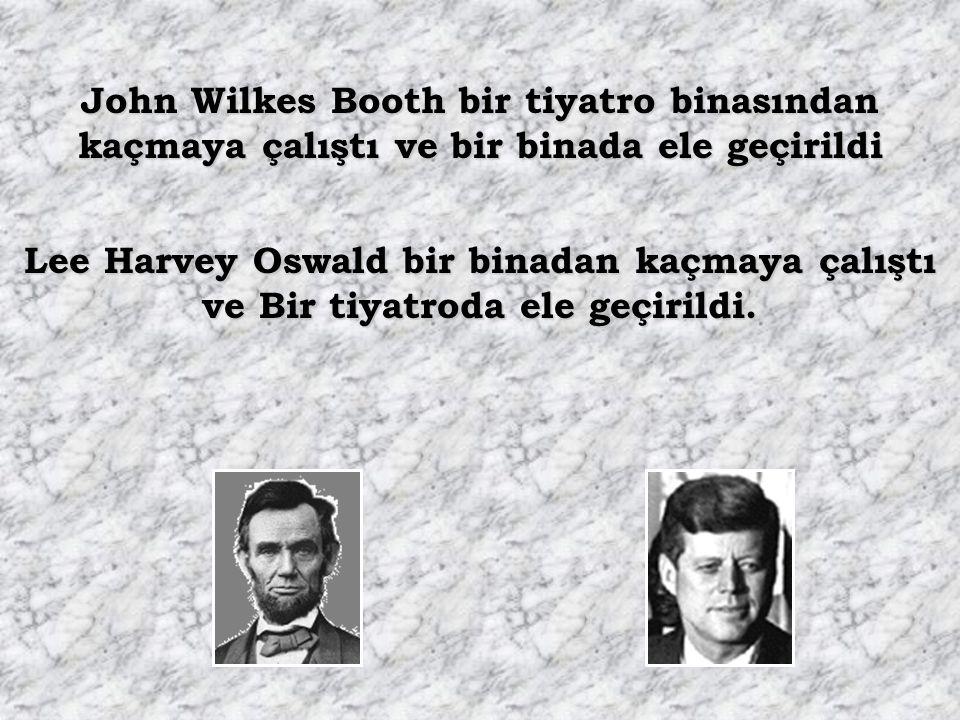 """Lincoln adı """"Kennedy"""" olan bir tiyatroda öldürüldü. Kennedy adı """"Lincoln"""" olan bir arabada öldürüldü."""