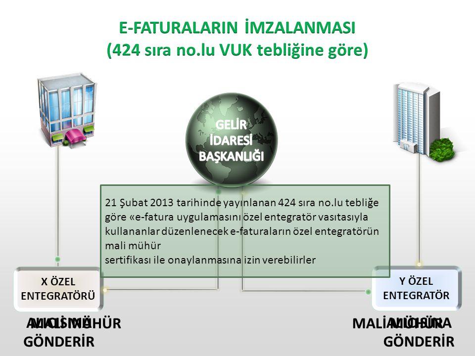 E-FATURA ÖZEL ENTEGRATÖR Tedarikçi tarafından herhangi bir formatta gelen fatura özel entegratör tarafından UBL-TR formatına çevrilip alıcısına iletilmek üzere Gelir İdaresi Başkanlığı'na gönderilir.