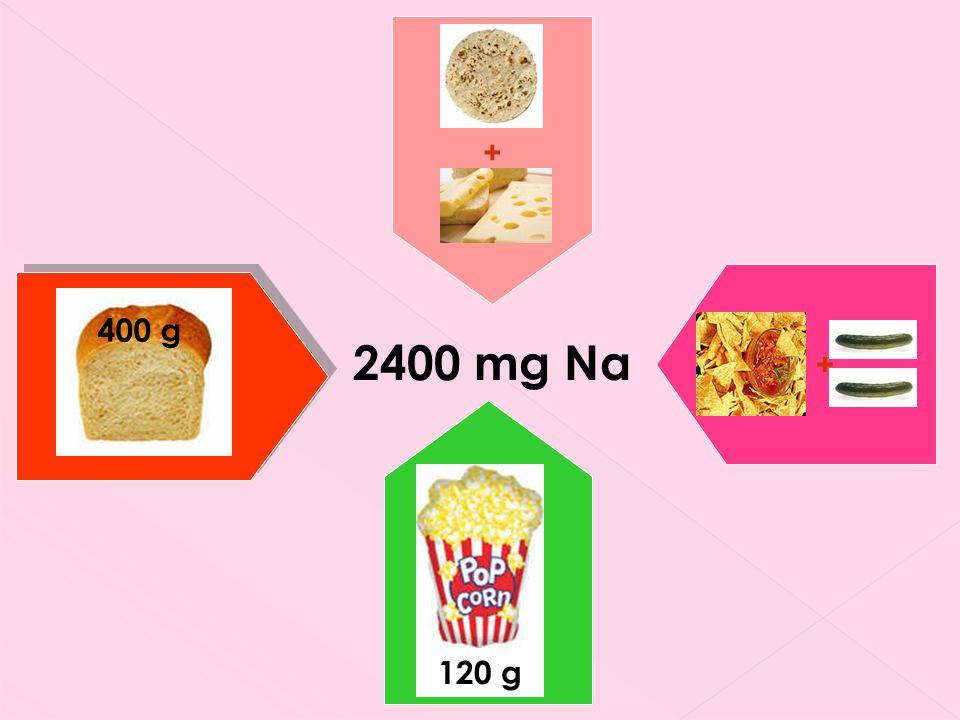 400 g 120 g + + 2400 mg Na